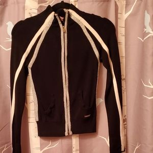 Bebe Sport sweater. Black with Silver trim.